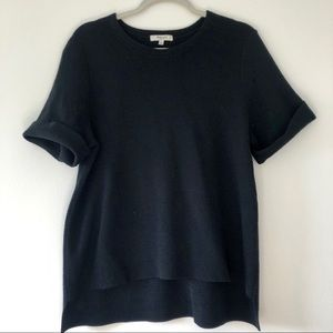 Madewell short sleeve sweater top, black size L